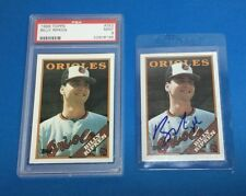 1988 Topps #352 Bill Billy Ripken Rookie Lot (2) RC: One Graded PSA 9 + One Auto