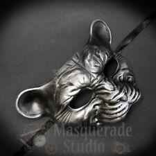 Leopard Haunted Animal Spirit Wall Decoration Halloween Masquerade Mask [Silver]