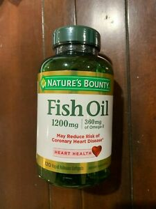 Nature's Bounty Heart Health Fish Oil Rapid Release Softgels, 1200 mg, 120 Ct
