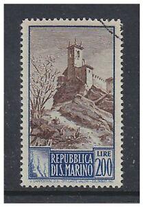 San Marino - 1949/50, 200l Tower stamp - F/U - SG 387