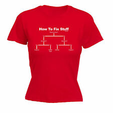 How to Fix Stuff WOMENS T-SHIRT For Her DIY Tee Builder Funny Gift birthday