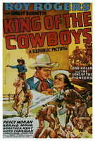 KING OF THE COWBOYS Movie POSTER 27x40 Roy Rogers Smiley Burnette Bob Nolan