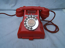 Red original GPO Bakelite telephone 328  not painted or a copy working P1
