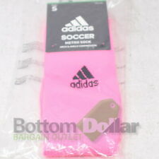 Adidas Unisex Lightweight Soccer Arch & Ankle Compression Metro Socks Pink (S)