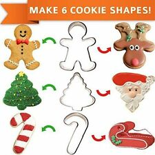 Celebrational Sale Christmas Cookie Cutters Set of 3 Make 6 Holiday Shapes