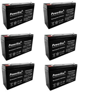 PS-6100 6V 12AH Battery Replacement for Golf Cart - 6 Pack