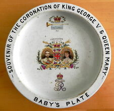 Antique King George V & Queen Mary 1911 Coronation Baby's Plate Bowl by Shelley