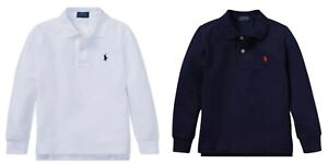 Boys Ex Ralph Lauren Cotton Polo T shirt long sleeve top Age 5 6 7