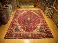 9.9 x 12.9 VINTAGE Handmade High Quality Antique1930s Kurdish Anatolian Wool Rug