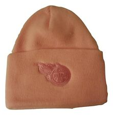 NFL Tennessee Titans Pink Beanie Knit Cuff Cap Adult One Size USA Made