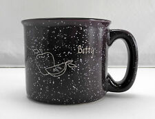 """Purple/White Speckled Stoneware Mug-Apple Design Personalized """"Betty"""" Coffee Cup"""