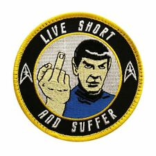 Spock Star Trek Live short and Suffer Embroidered Hook PATCH