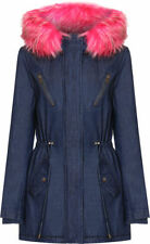 Faux Fur Cotton Regular Size Coats & Jackets for Women