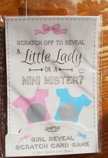 Baby Shower scratch card (Girl) reveal game 10 pieces Brand new
