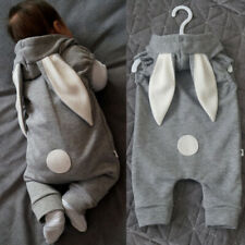Newborn Kids Baby Clothes Girl Boy Rabbit Ear Romper Jumpsuit Bodysuit Outfits