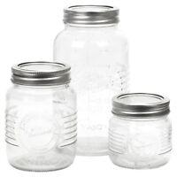 Screw Cap Mason Preserve Jars Glass Food Airtight Kitchen Storage Containers New