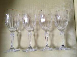 4 Vintage Royal Devon Gorham Crystal Wine Goblet Glasses - PRICED AS SET OF 4