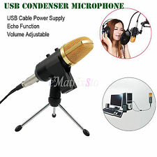 USB Condenser Microphone Studio Audio Broadcasting Sound Recording Tripod Stand