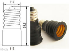 10pcs E10 Male to E12 Female Base LED Light Bulb Adapter Holder Socket Converter