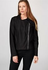 Kim & Co Deluxe Denim Knit Zip Jacket Black Size M BNWOT NEW