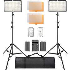 SAMTIAN LED Video Light Kit with Stand LED Panel Set with Tripod and 240pcs 3...