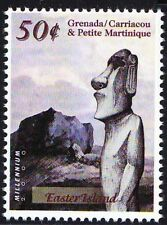 Grenada Ca. & Petite Ma. 2000 MNH, Easter Island, Remote inhabited island (W3n)