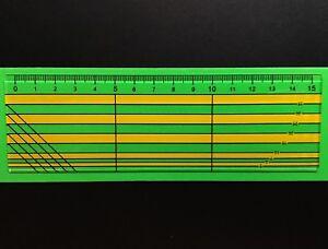 Seam Allowance Ruler - Metric - Acrylic - 15cm - Design-Surgery®
