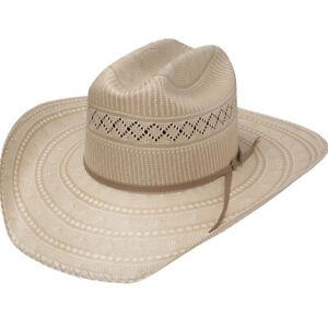 Resistol 20X Brett Cowboy Straw Hat Natural Tan Made In USA