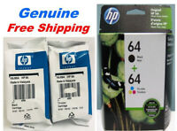 Genuine HP 64 Black /Tri-color Ink Cartridge combo for HP6258 7158 7858 Printer