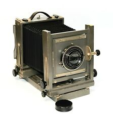 Ansco 5x7 Field View Camera W/ Ilex Paragon Anastigmat F:4.5 E.F. 8 1/2 Lens
