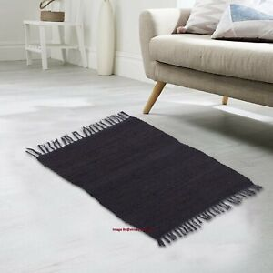 Rug 100% Cotton Hand woven 2x3 Feet Carpet Home Decor Area Rug Chindi Rag Rug