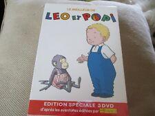 """COFFRET 3 DVD NEUF """"LE MEILLEUR DE LEO ET POPI"""" dessins animes"""