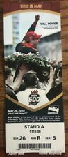 2019 Indianapolis Indy 500 Ticket Stub Will Power Simon Pagenaud Small Crease