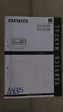 Aiwa av-x100 x200 service manual original repair book stereo radio receiver