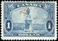 Used Canada $1.00 F+ 1935 Scott #227 King George V Pictorial Stamp