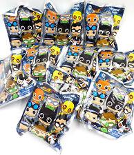 DC Super Hero Figural Key Ring Blind Bag Lot of 10 Figures, Easter Basket Toy
