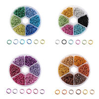 1000+ 6mm Aluminium Anodized Metallic Coloured Open Jump Rings Jewelry findings