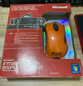 NEW! Microsoft Orange IE3.0 copy mouse game / drawing mouse