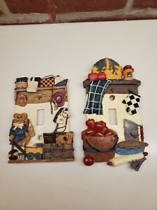 2  3D Ceramic Wall Light Switch Covers Kitchen and Kids Bed Room Unique Design.