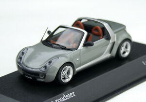 Smart Roadster Bj. 2003-2005, Metallic Grey, Minichamps-Modell IN M.1: 43, Ob