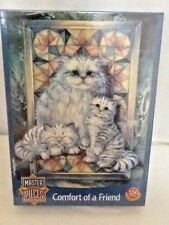 Cat Puzzel New unopened Comfort A Friend 550 Pieces 18  x 24