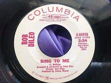 Rare Sunshine Pop 45 : Bob Dileo ~ Jessica ~ Sing To Me ~ Columbia 4-44958