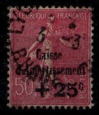 CAISSE d'AMORTISt : Variété SEMEUSE 254a , Oblitéré = Cote 125€ / Timbre France