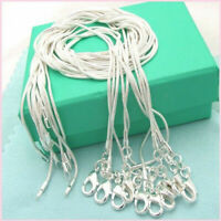 "Wholesale 10PC 1MM SNAKE CHAIN 925STERLING SOLID SILVER JEWELRY NECKLACE 16""-24"""