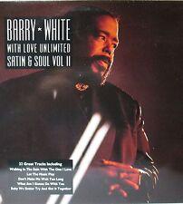 "BARRY WHITE - Satin & SÖUL - 22 GREATEST TRACKS-  DP LP 12"" INCH - FOC"