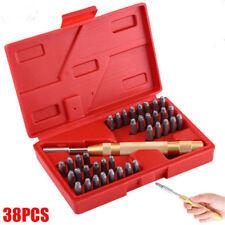 38Pc 3mm Automático Número&Letra Set Sellado Estampado de Metal Punch Stamp Sets
