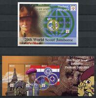 Malediven Maldive 2002 Pfadfinder Scouts 3976-3978 + Block 522 MNH