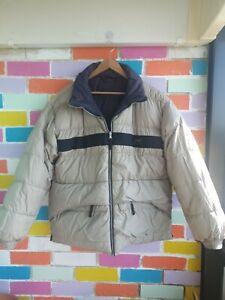 Mens Helly Hansen Puffer Jacket Reversible Duck Down Filled Warm Winter XXL VTG