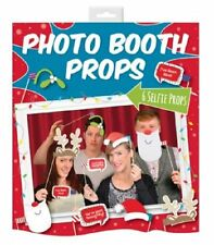 6 PIECE PHOTO BOOTH SELFIE CHRISTMAS PROPS XMAS FUN CAMERA PARTY OFFICE NEW YEAR