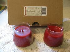 Longaberger 2Pk Mini Peppermint Stick Candles